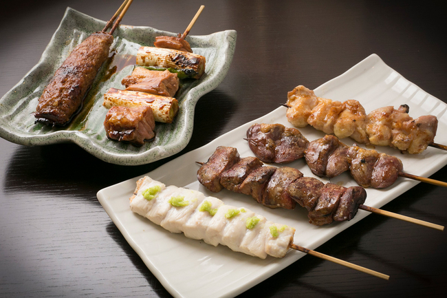 Selection of 6 Yakitori Skewers
