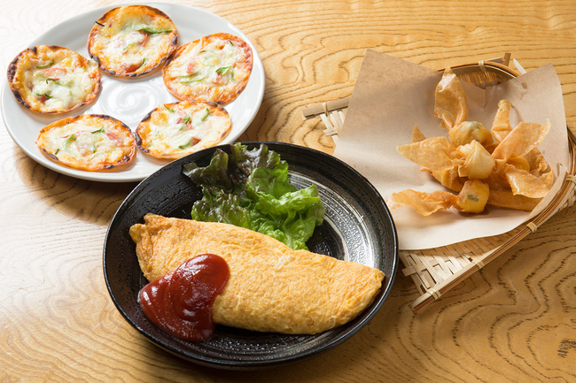 Suggested Set (Mini Pizza, Omelette, Fried Cheese Ribbons)